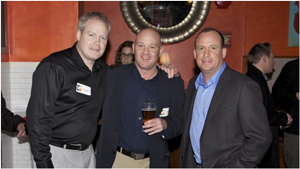 SendtoNews Founder Keith Wells with Helijet's Troy McDonald and CHEK TV Sports Anchor Jeff King