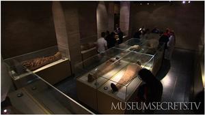 Mummies inside Cairo's Egyptian Museum