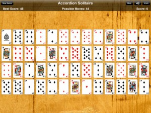 accordian solitaire