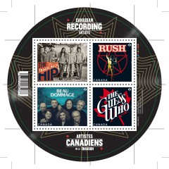 Canada Post rocks out new stamps featuring Canadian bands
