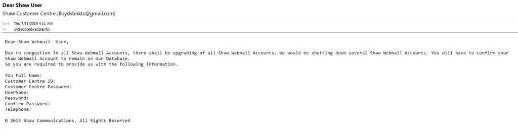 Attempted Phishing