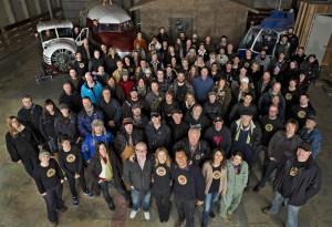 The Arctic Air Crew at the Aldergrove sound stage (image: actorsfund.ca)