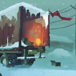 The Long Dark truck camp