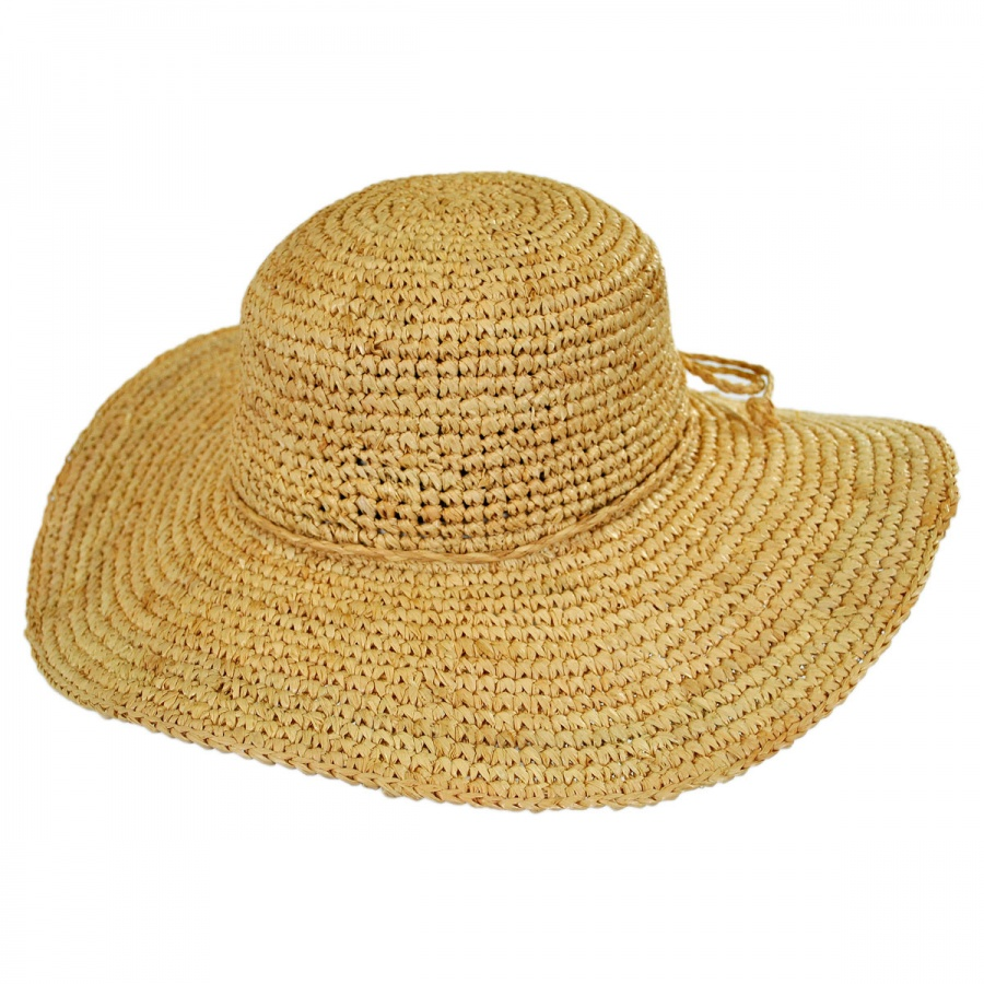 sur la tete Crochet Raffia Straw Swinger Hat Straw Hats