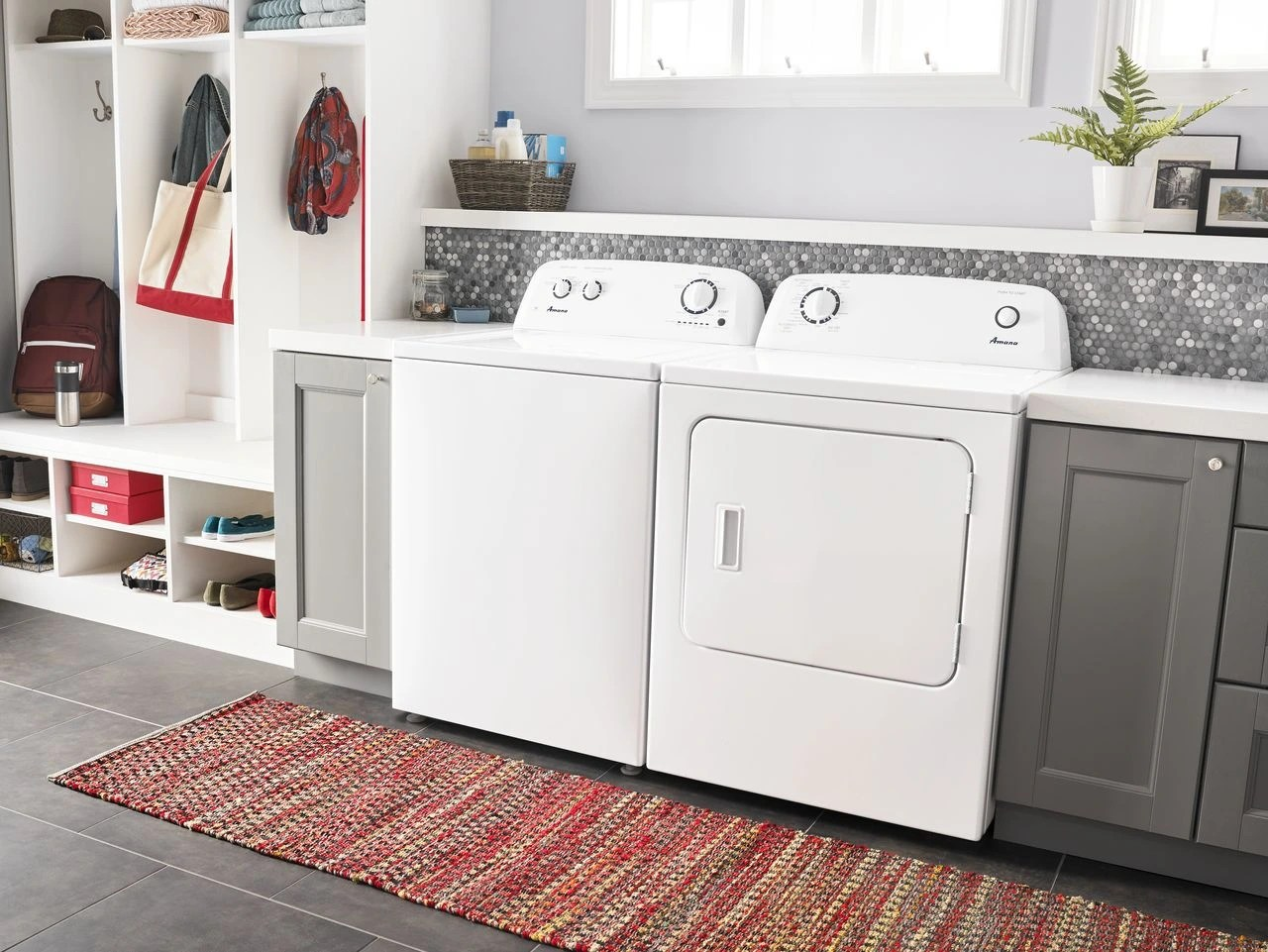 hight resolution of amana 6 5 cu ft white front load electric dryer ned4655ew