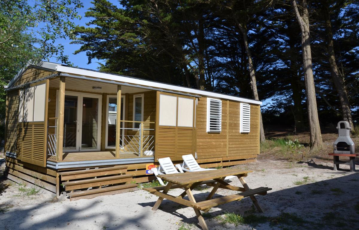 Cottage des dunes  Location mobilhome bretagne 56 personnes