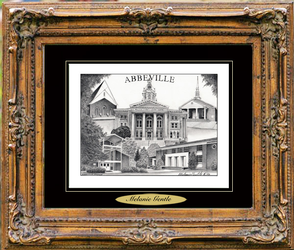 Pencil Drawing of Abbeville, GA