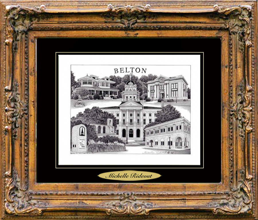 Pencil Drawing of Belton, TX