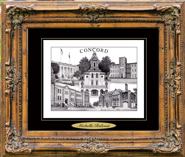 Pencil Drawing of Concord, NC