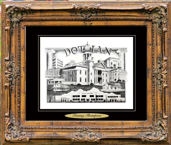 Pencil Drawing of Dothan, AL
