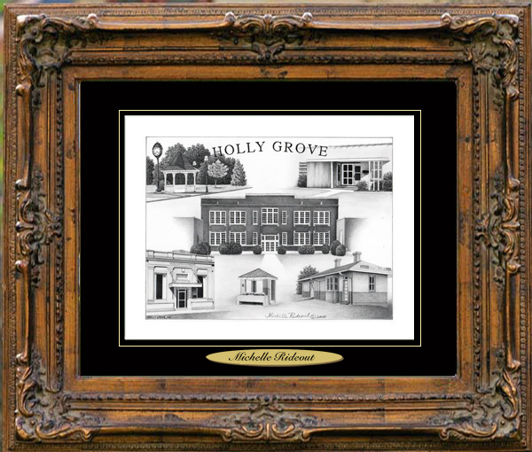 Pencil Drawing of Holly Grove, AR