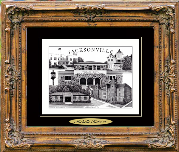 Pencil Drawing of Jacksonville, TX