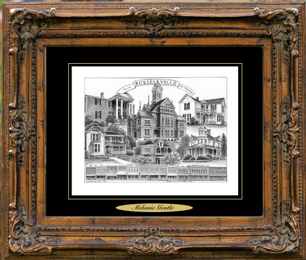 Pencil Drawing of Russellville, AL