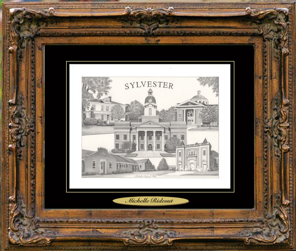 Pencil Drawing of Sylvester, GA