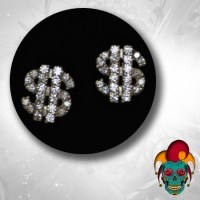 Dollar Sign Silver Earrings - Village Tattoo NYC