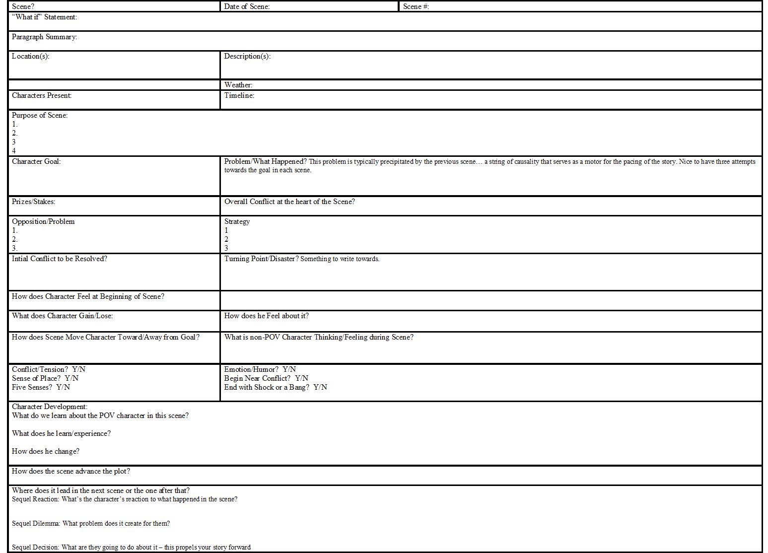 Scene Worksheet For Web