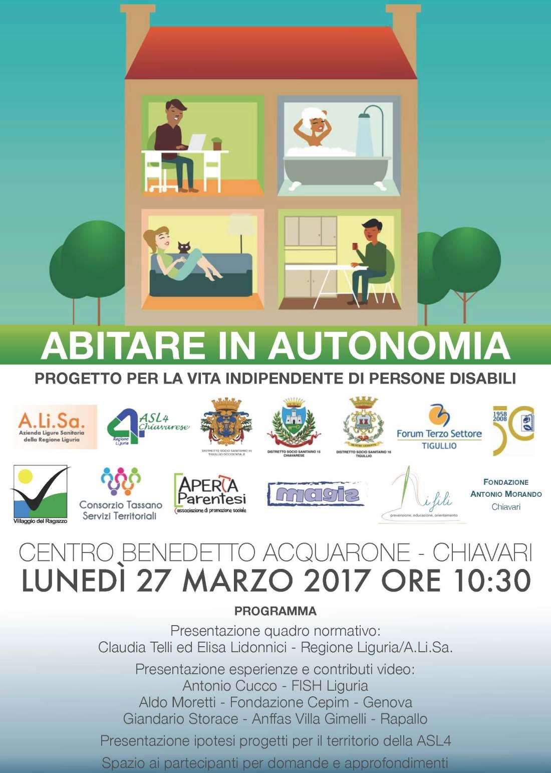 Abitare in Autonomia - Progetto per la vita indipendente di Persone Disabili - locandina