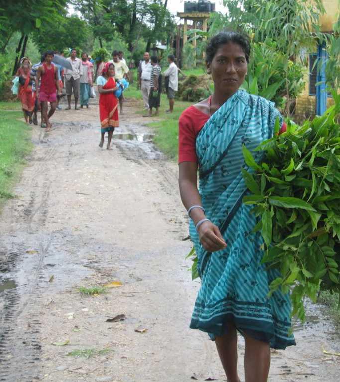Persone che lavorano nella regione dell'Himalaya