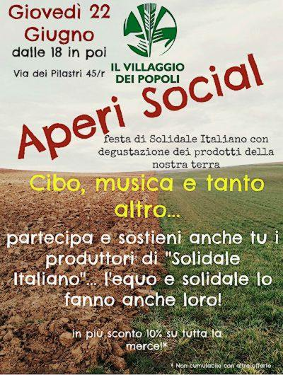Locandina della festa di Solidale Italiano che si terrà a Firenze il 22 6 2017