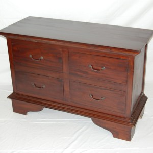 Java 4 Drawer Low Dresser - Medium