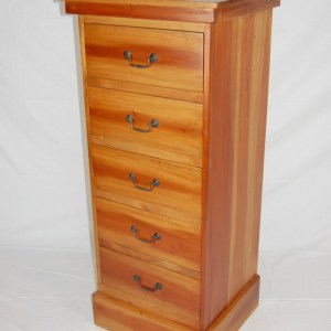 Java 5 Drawer Tallboy - Natural
