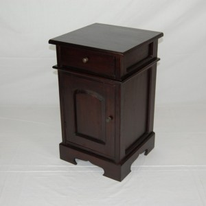 Java Panel Door Bedside Cabinet - Dark