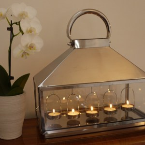 Stainless Tealight Lantern