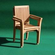 Teak Aulia Stacking Chair