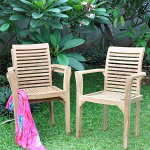 Teak New Stacking Chair