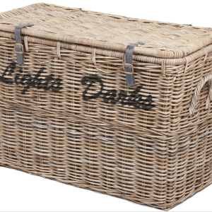 Wicker Merchant Light and Dark Laundry Basket