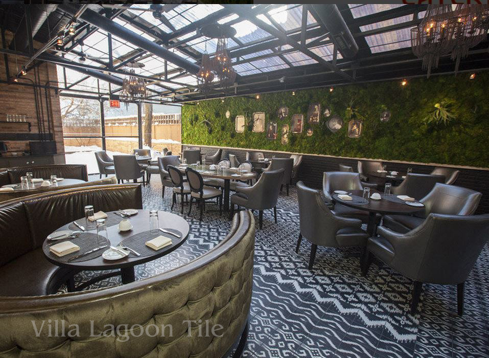 Boka Restaurant ChicagoRevamped with Cement Tile  Cement