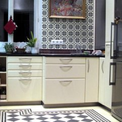 Cement Tile Kitchen Cabinets Fort Myers Backsplashes Villa Lagoon Black And White