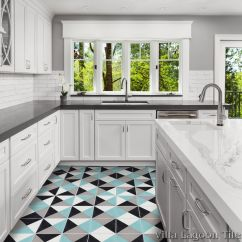 Cement Tile Kitchen Update Cabinets Tugboat Four Color Villa Lagoon Click For Larger Image
