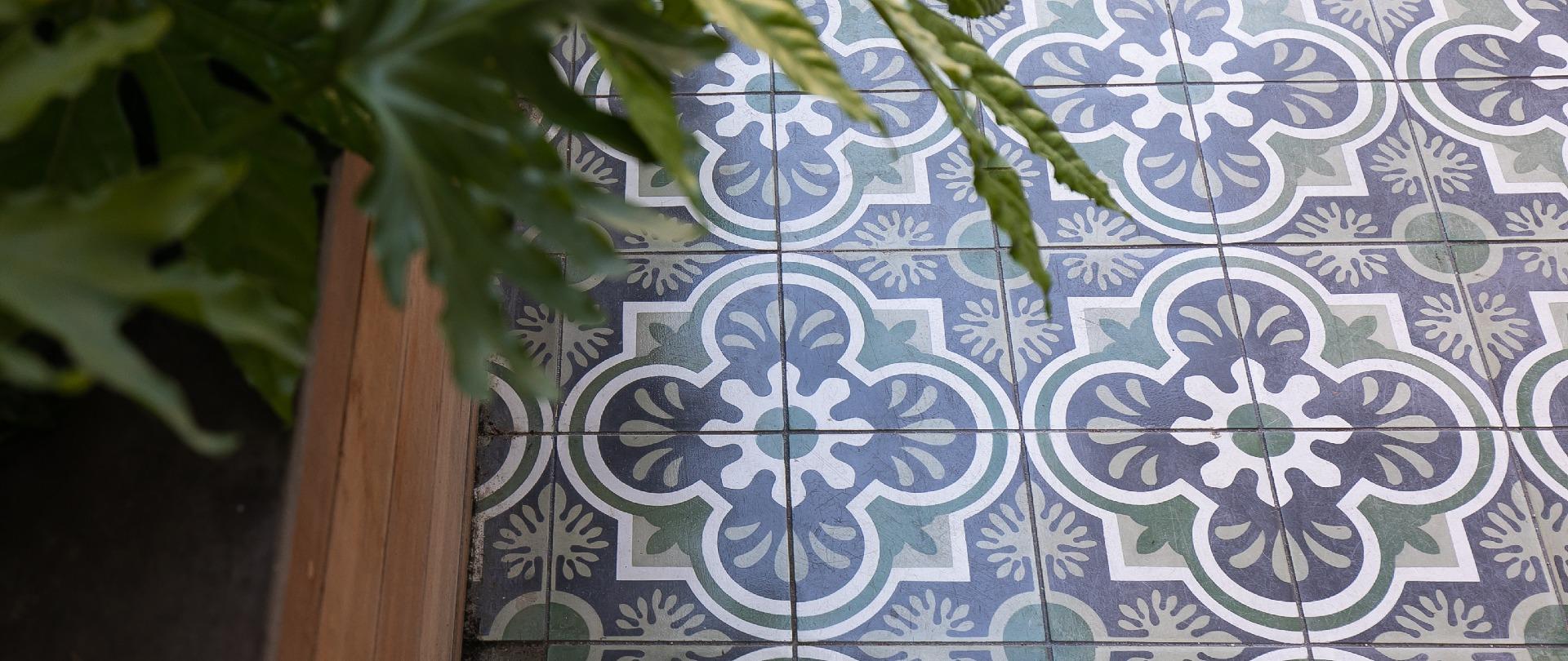 encaustic cement tile villa lagoon tile