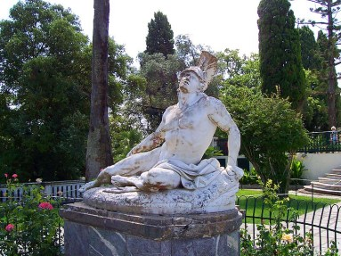 """Dying Achilleus"" in Achillion of Corfu"