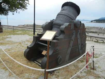 Sights of Corfu - The cannon in the Old Fortress of Corfu