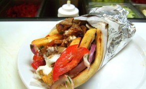 "Do not forget to taste ""souvlaki"" with gyros, the street food of Greeks!"