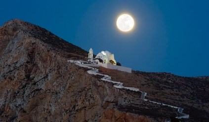 Full moon at the Church of Panagia