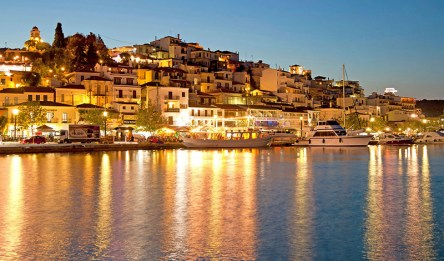 Skiathos island at night