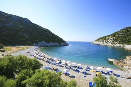 Skopelos beach in Sporades