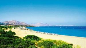 Kiotari beach in Rhodes