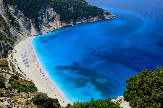 The spectacular Myrtos beach