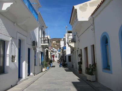 Traditional houses in Korthi of Andros