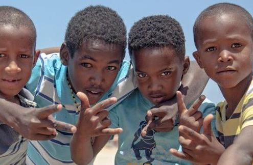 Children on the island of Maio, Cape Verde
