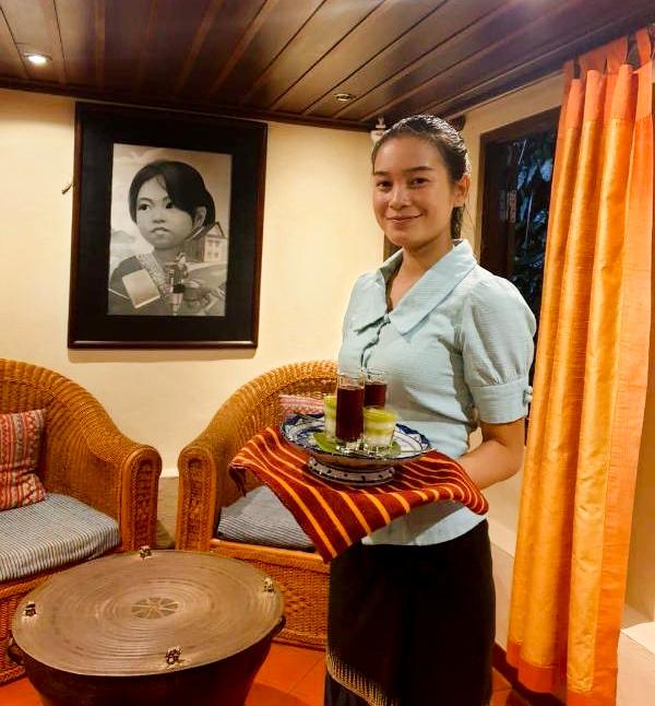 Welcome drinks - Villa Maydou Boutique Hotel, Luang Prabang