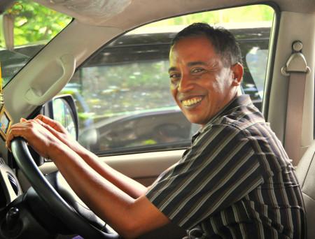 Gusti, de chauffeur van Villa Senang