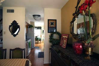 Kitchen view from formal dining
