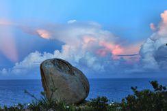 "Sunset reflection ""on the rocks"""