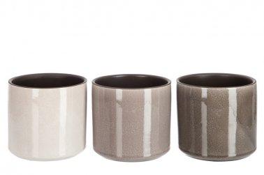 cache pot rond ceramique grand modele