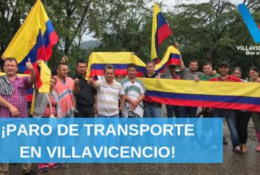 Inicia el Paro de Transporte Público en Villavicencio